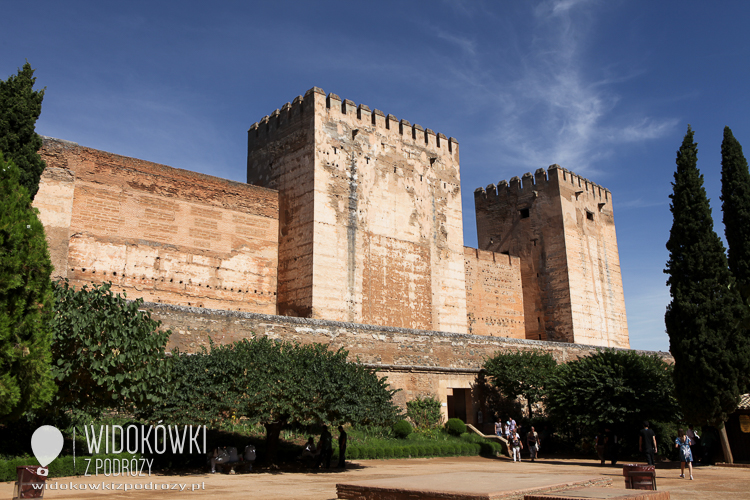 Alcazar - the old fortress - the oldest part of the Alhambra.