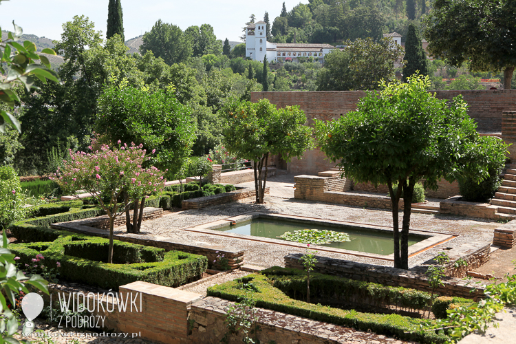 Garden Generalife. Alhambra, Granada.