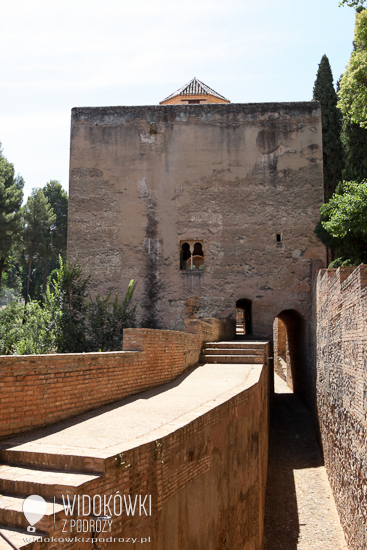 View of the Palacio de Generalife located on the hill of the sun, which was once the summer palace of the kings.