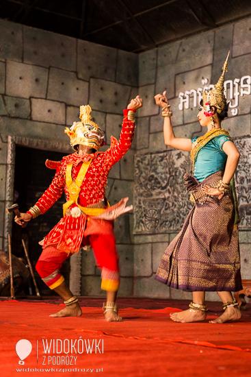Tańcząca Apsara w restauracji w Siem Reap. © Katarzyna i Marek Stor.