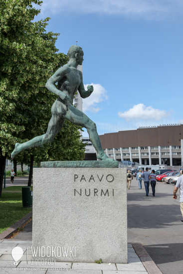 Athletes Paavo Nurmi monument.