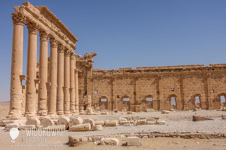 Interior of the Temple Bela. Palmyra 2008.