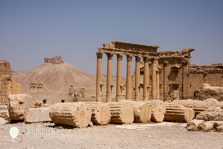 A view of Palmyra. In the distance, the Arabic castle (Kala'at Ibn Maan).