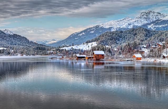 Weissensee Jezioro polodowcowe w Karyntii, Austria. Jacky